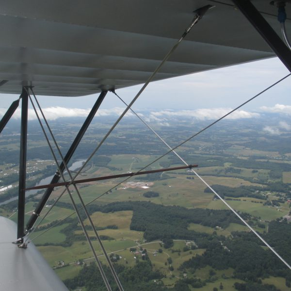 Old Dominion Biplane Rides - Cloudy Countryside